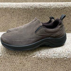 L L Bean Gray Suede Comfort Mocs Shoes